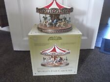 More details for mr christmas gold label worlds fair carousel boxed excellent working condition
