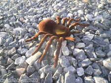 "7"" x 4.5"" Spider Tarantula Fake Prank Brown Tan Halloween Prop Flocked Fuzzy"