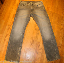 TRUE RELIGION JEANS SZ 32 X 34 RICKY RELAXED STRAIGHT FLAP POCKET ST#M3F859KU4N