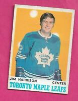 1970-71 OPC # 220 LEAFS JIM HARRISON ROOKIE EX+  CARD  (INV# C3485)