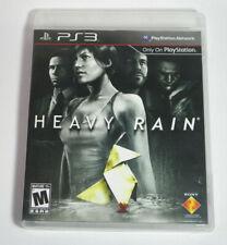 Heavy Rain (Sony PlayStation 3 PS3, 2010) W/manual