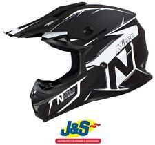 NITRO MX620 podio MOTOCROSS CASCO MX OFF-ROAD MOTO X Bmx Satén Negro Blanco J&s
