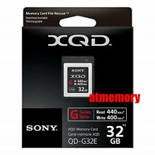 Sony 32GB G Series XQD Memory Card QD-G32E Read: 440MB/s Write: 400MB/s