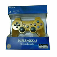 Gold Official PS3 PlayStation 3 DualShock 3 Wireless SixAxis Controller GamePad