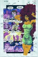 NEW TITANS COMICS #98 OG COLOR PRODUCTION ART SIGNED ADRIENNE ROY COA PG 15