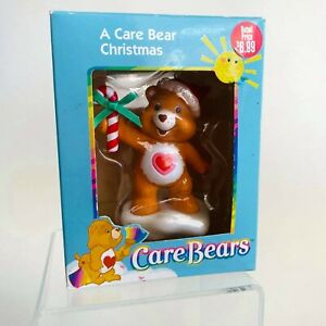American Greetings Care Bears Christmas Ornament Care Bear Holding a Candy Cane