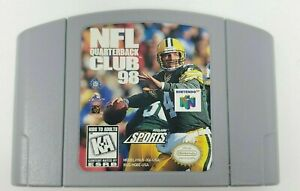 NFL Quarterback Club 98 (Nintendo 64, 1997) N64 GAME CARTRIDGE ONLY TESTED