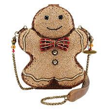 Mary Frances Gingerbread Man Holiday Beaded Christmas Sugar Handbag Bag New