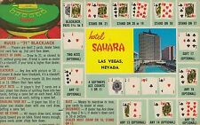 LAS VEGAS, NV ~ HOTEL SAHARA ~ RULES to the CARD GAME BLACKJACK ~ c1955