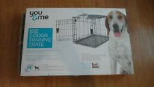 "You & Me 2-Door Training Crate For Medium Dogs 30"" x 18"" x 21.5""  NO BOTTOM TRAY"