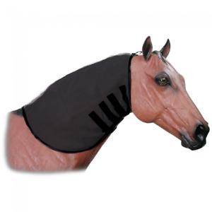 Tough-1 100% Spandex Mane Stay Hood Full Zipper Black Large Horse Tack Equine