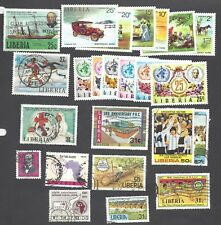 LIBERIA - TWENTY-FOUR DIFFERENT MIXED STAMPS