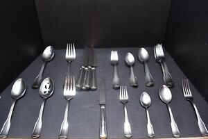 Wallace Parker House Stainless Flatware SET 37 Pieces Service For 6 Silverware