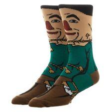 The Wizard Of Oz Scarecrow Bioworld Crew Socks Men's 8-12 Unisex Adult Retro