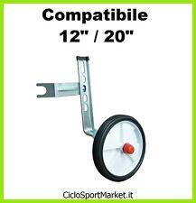 """Stabilizzatori / Rotelle per bicicletta BIMBO con ruota diametro dal 12"""" al 20"""""""