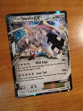 PL Pokemon STEELIX EX Card STEAM SIEGE Set 67/114 XY X and Y Ultra Rare TCG