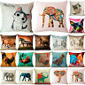 Hot Cute Animal Pillow Case Cotton Linen Sofa Waist Cushion Cover Home Decor