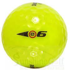 50 AAA Bridgestone e6 Yellow Used Golf Balls (3A) - FREE SHIPPING
