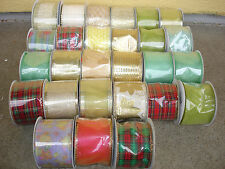 27  pcs Ribbon Spools Wholesale Lot Floral Bulk Crafts Bows Supplies Christmas