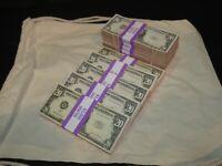 Prop Novelty Money Filler Packs 10 x $2K Solid Blocks.Legal Single Sided