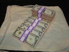 More details for prop novelty money filler packs 10 x $2k solid blocks.legal single sided
