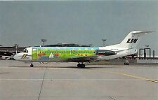 LINJEFLYG AIRLINES OF SWEDEN FOKKER F28-4000 IN LANDSCAPE COLOURS POSTCARD