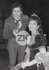 MARIA CALLAS Cantatrice RENATO CIONI Opéra TOSCA Paris Photo1965