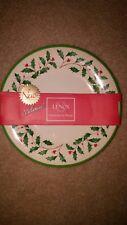 "NEW Lenox Holiday Christmas Melamine Accent Plates Holly 4 Salad Dessert 8"""