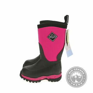 NEW Muck Boot Unisex Kids Rugged Ii Knee High Boots in Pink / Black - C8