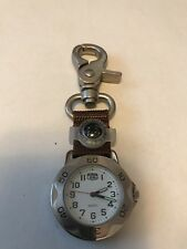 ROUTE 66 WATCH WITH BELT CLIP, COMPASS, PRE-OWNED, NEVER USED, STAINLESS STEEL