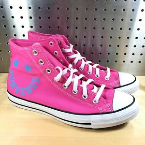 New Converse All Star Chuck Taylor Hi Happy Face Pink 168223F Sz 9.5