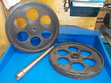 "BANDSAW WHEELS BANDWHEELS 20"" PAIR W SHAFT  BRAND NEW REAL BANDWEELS FOR SAWMILL"