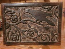 PENTACLE RAVEN JEWELLERY/TAROT BOX WITCH WICCA PAGAN