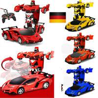 Kids Toys Car Remote Control Vehicle Transformer Transforming Robot RC Cars Toy