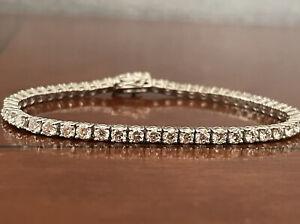 5.42 Ct Top Most Quality  Round Diamond Tennis Bracelet , White Gold Hallmarked