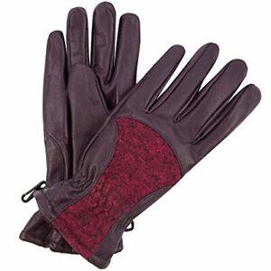 New Regatta Great Outdoors Ladies Womens Gloves Size L Genuine Leather Fleece