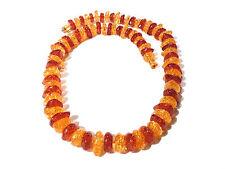 Bijou collier intemporel lucite façon ambre bi color necklace