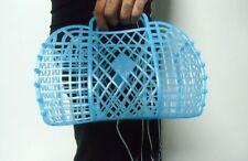 Handbag basket sneaker plastic blue jelly retro vintage shopping at assemble