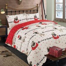 Ropa de cama de poliéster para niños de navidad en color principal rojo