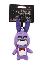 "Official FNAF Five Nights At Freddy's 5"" Keychain Clip Toy Plush Figure Bonnie"