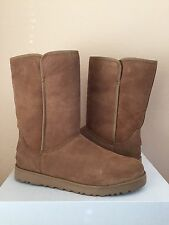UGG MICHELLE CLASSIC SLIM CHESTNUT SUEDE WEDGE BOOT US 8 / EU 39 / UK 6.5 - NEW
