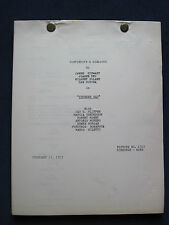 THUNDER BAY - JAMES STEWART Film - ORIGINAL Dialogue Continuity Script