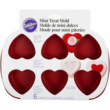 2105-4824 - Wilton 6 Cavity Silicone Heart Mold Pan