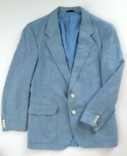 Vtg Jordache Light Baby Blue 2 button Blazer Jacket Sport Coat Hipster size 40 R