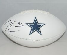 DEMARCUS LAWRENCE AUTOGRAPHED SIGNED DALLAS COWBOYS WHITE LOGO FOOTBALL JSA