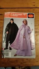 SIMPLICITY HOODED CAPE COSTUME PATTERN W0121 SIZE XS-XL UNCUT FREE SHIPPING