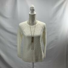 Talbots Petites Women's Sweater Pullover Mixed Knit Crewneck Long Sleeve Size SP