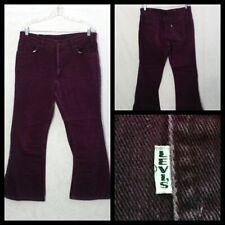 Levi's Big E Jeans Men's Measured 35X28 Maroon Zipper Fly w/White Tab Inv#F4941