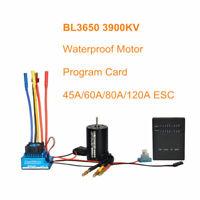 RC 1:10 Car 3900KV Waterproof Brushless Motor & 45A 120A ESC / Program Card Set