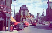 FABRIQUE STREET and CATHEDRAL, QUEBEC CANADA 1940's era autos